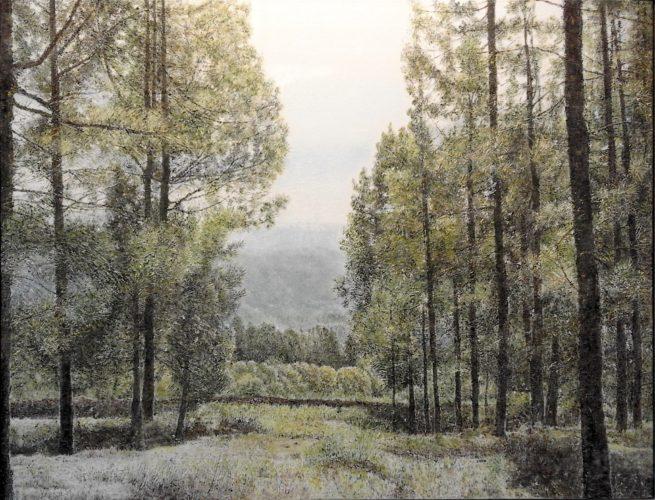 Ana Brígida. Pintora canaria. Exposición Galería García de Diego. Los Llanos de Aridane, La Palma, Canarias