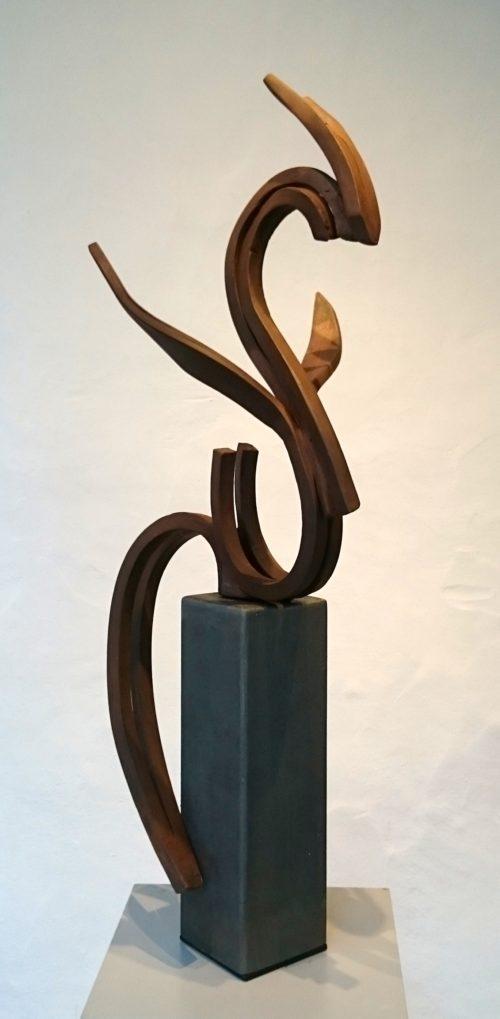 Pereda de Castro. Escultor. Exposición Galería García de Diego, Los Llanos de Aridane. La Palma. Islas Canarias