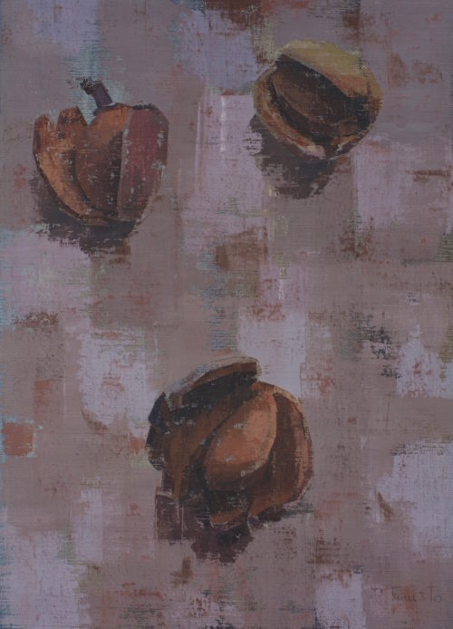 """Pedro Fausto. Pintor. """"Almendras"""" Exposición en Galería García de Diego. La Palma, canarias"""