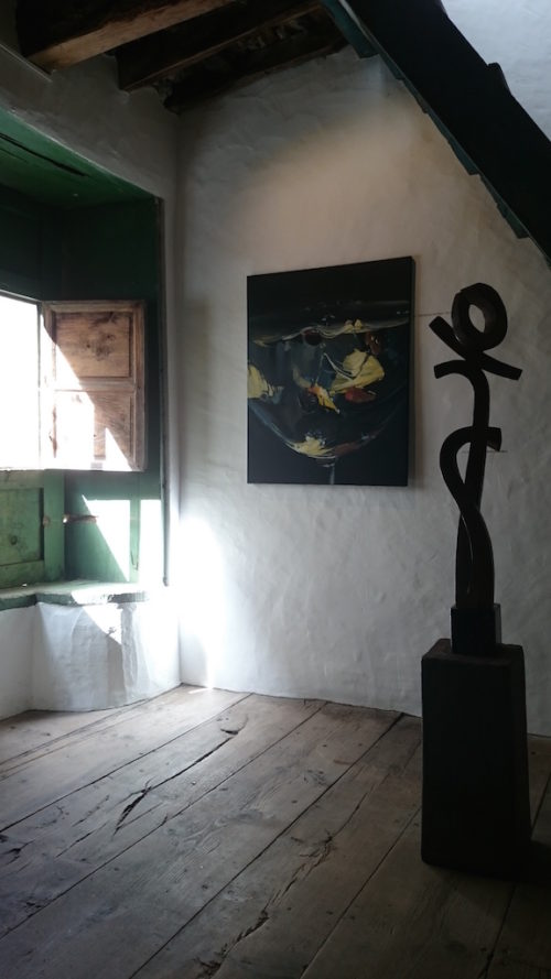 Erwin Heckmann y César Rodríguez. Exposición en la galería de arte garcía de diego, los llanos de aridane, la palma, canarias