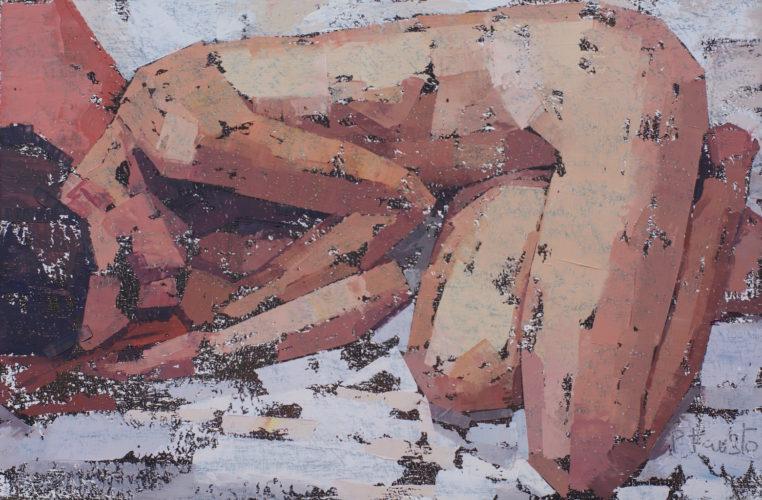 """Pedro Fausto. Pintor. """"Desnudo"""". Exposición en Galería García de Diego. La Palma, canarias"""
