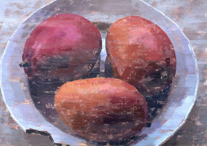 Pedro Fausto. Pintor. Mangos. Exposición en Galería García de Diego. La Palma, canarias