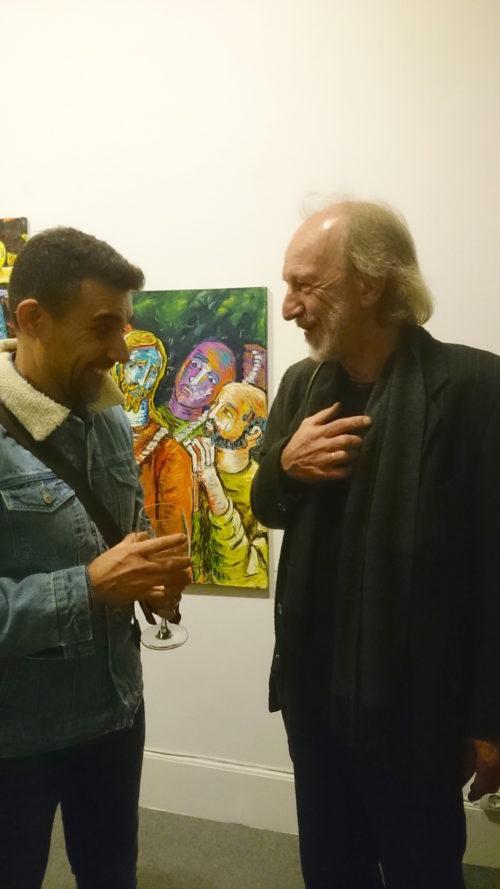 Inauguración exposición Hugo Pitti. Pintor canario. Exposición en Galería García de Diego, La Palma, canarias