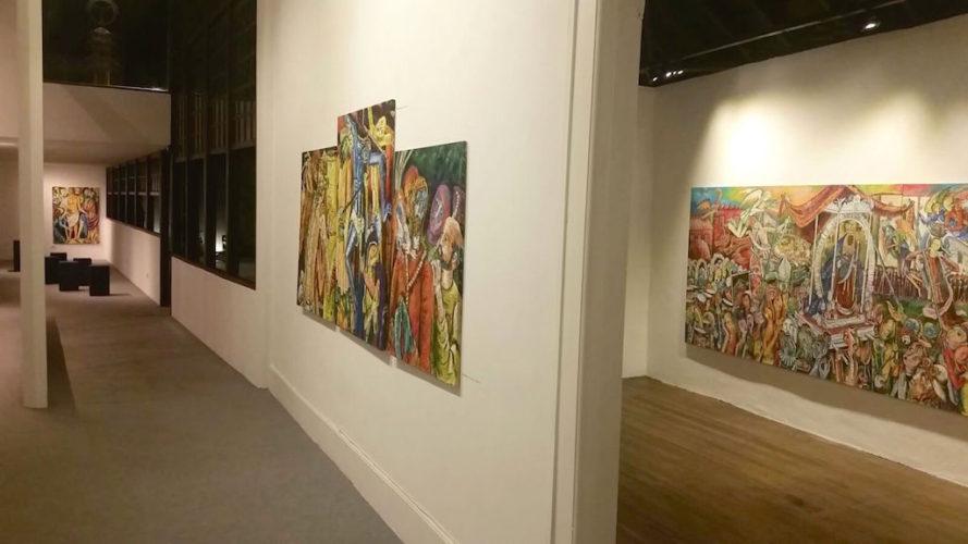 Hugo Pitti. Pintor canario. Exposición en Galería García de Diego, La Palma, canarias