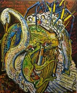 Catalina Parr 54 x 65 cm. Hugo Pitti. Pintor canario. exposición en Galería de arte García de Diego, La Palma