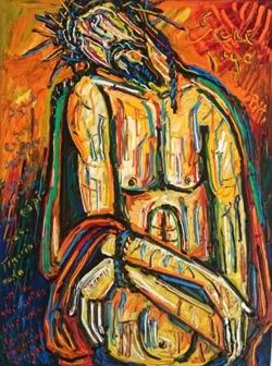 Ecce Hugo 54 x 73 cm. Hugo Pitti. exposición en Galería García de Diego, La Palma, canarias