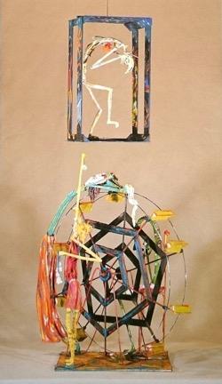 En que el poeta recuerda. Eulalie Beatrice 54 x 65 cm. Hugo Pitti. exposición en Galería García de Diego, La Palma, canarias