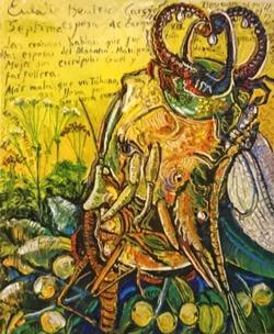 Eulalie Beatrice 54 x 65 cm. Hugo Pitti. exposición en Galería García de Diego, La Palma, canarias