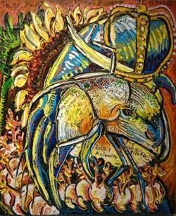 Jane Marie 54 x 65 cm. Hugo Pitti. exposición en Galería García de Diego, La Palma, canarias