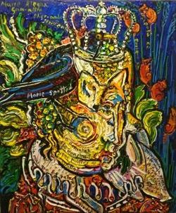 Marie Alegna 54 x 65 cm. Hugo Pitti. Pintor canario. Galería García de diego, los llanos de aridane. La Palma, Canarias