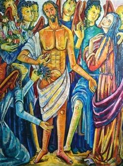 Resucitado 97 x 130 cm. Hugo Pitti. Galería García de Diego, Los Llanos de Aridane, La Palma