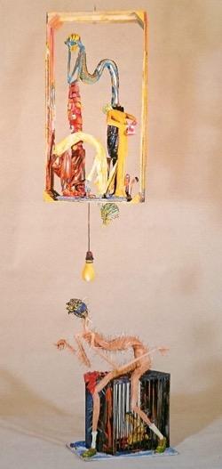 de Cárceles Oscuras. Hugo Pitti. exposición en Galería García de Diego, La Palma, canarias
