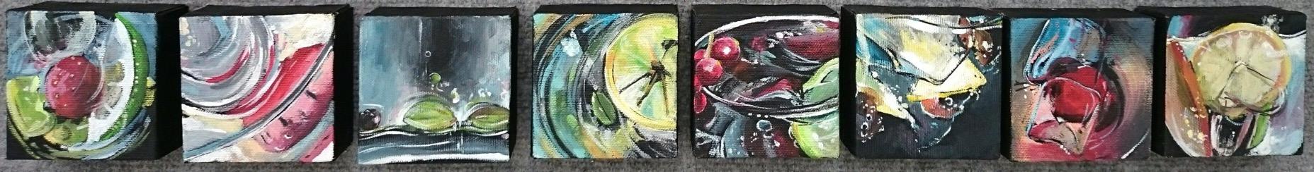 Pintura de César Rodríguez. Pintor canario. Exposición en la Galería García de Diego, Los Llanos de Aridane, La Palma
