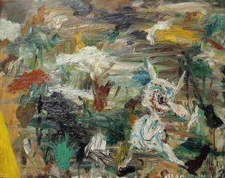 Matías Sánchez. pintor. DIABLILLO BLANCO. 2016. Óleo sobre tela. 73 x 92 cm