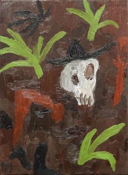 Matías Sánchez. Pintor. EL HUERTO INGLÉS. 2016. Óleo sobre tela. 33 x 24 cm