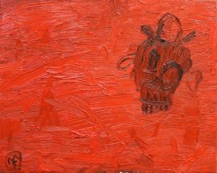Matías Sánchez. Pintor. FINIS GLORIAE MUNDI. 2015. Óleo sobre tela. 33 x 41 cm