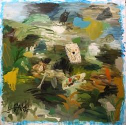 Matías Sánchez. Pintor. ISLA. 2016. Óleo sobre tela. 200 x 200 cm