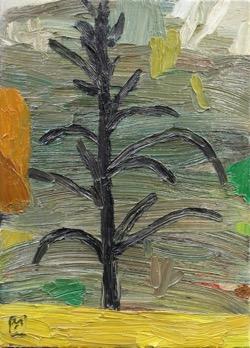 Matías Sánchez. Pintor. JARDÍN. 2017. Óleo sobre tela. 33 x 24 cm