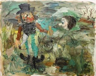 Matías Sanchez. Pintor. LOS CAMPESINOS. 2012. Óleo sobre tela. 130 x 162 cm