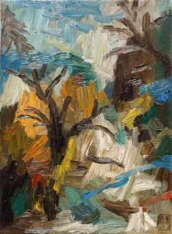 Matías Sánchez. Pintor. MONTAÑA. 2017. Óleo sobre tela. 33 x 24 cm