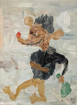 Matías Sánchez. Pintor. NÓMADA. 2017. Óleo sobre tela. 33 x 24 cm