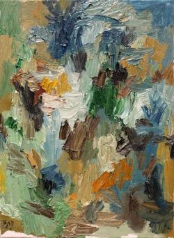 Matías Sánchez. Pintor. OTOÑO. 2016. Óleo sobre tela. 33 x 24 cm
