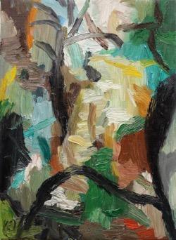 Matías Sánchez. Pintor. PAISAJE. 2017. Óleo sobre tela. 33 x 24 cm