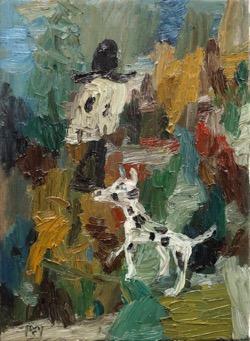 Matías Sánchez. Pintor. PASEO. 2017. Óleo sobre tela. 33 x 24 cm