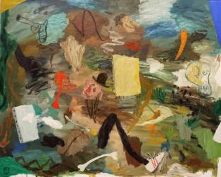 Matías Sánchez. Pintor. PERSEVERANTES. 2016. Óleo sobre tela. 130 x 162 cm