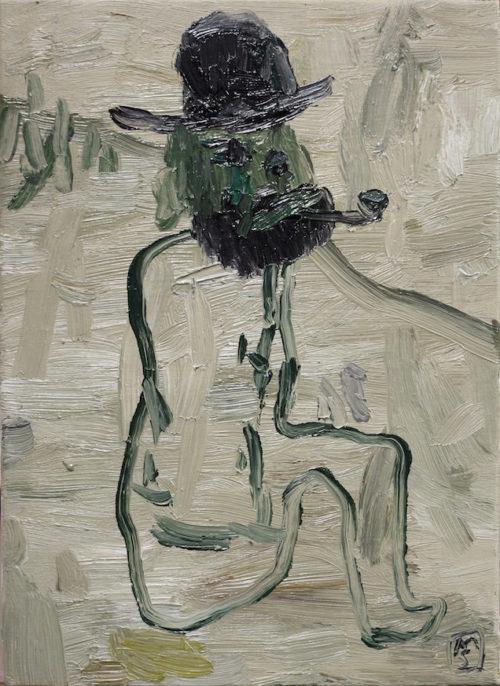 Matías Sánchez. Pintor. VIEJO PESCADOR. 2017. Galería García de Diego. Los Llanos de Aridane, La Palma, Canarias