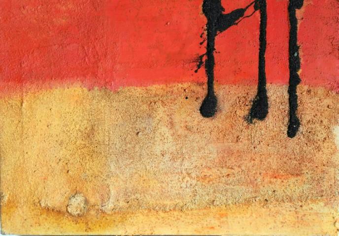 Partitura Alegre 50 x 70 cm, técnica mixta